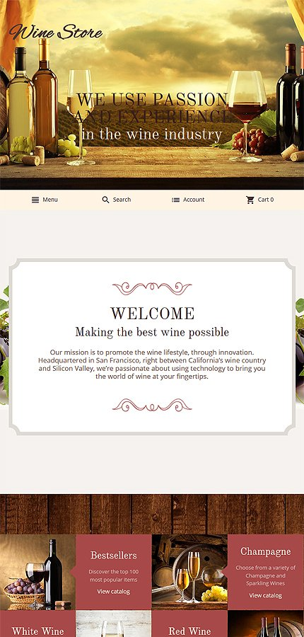 Magento Theme/Template 55961 Main Page Screenshot