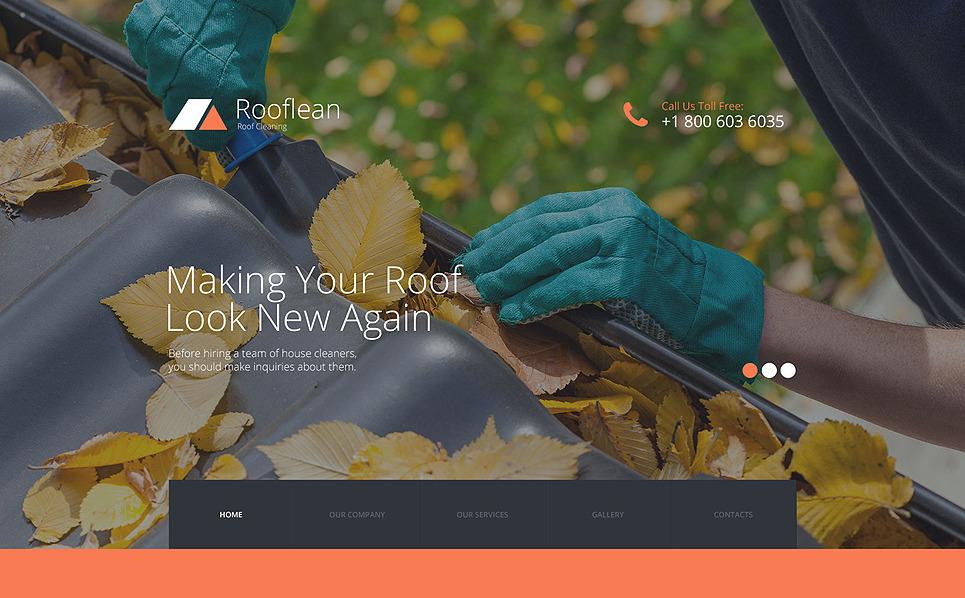 Responsive Çatı Şirketi  Web Sitesi Şablonu New Screenshots BIG