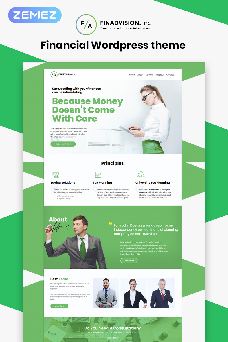 WordPress Theme/Template 55970 Main Page Screenshot