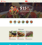 Cafe & Restaurant Website  Template 55980