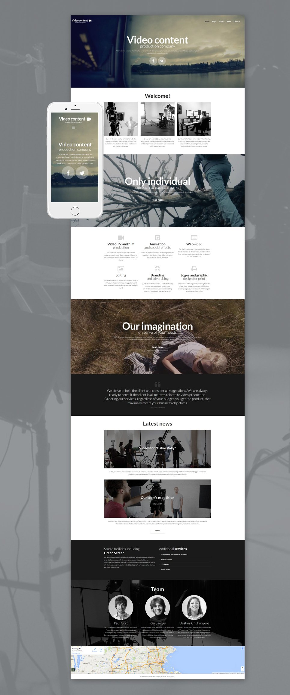 video production website templates