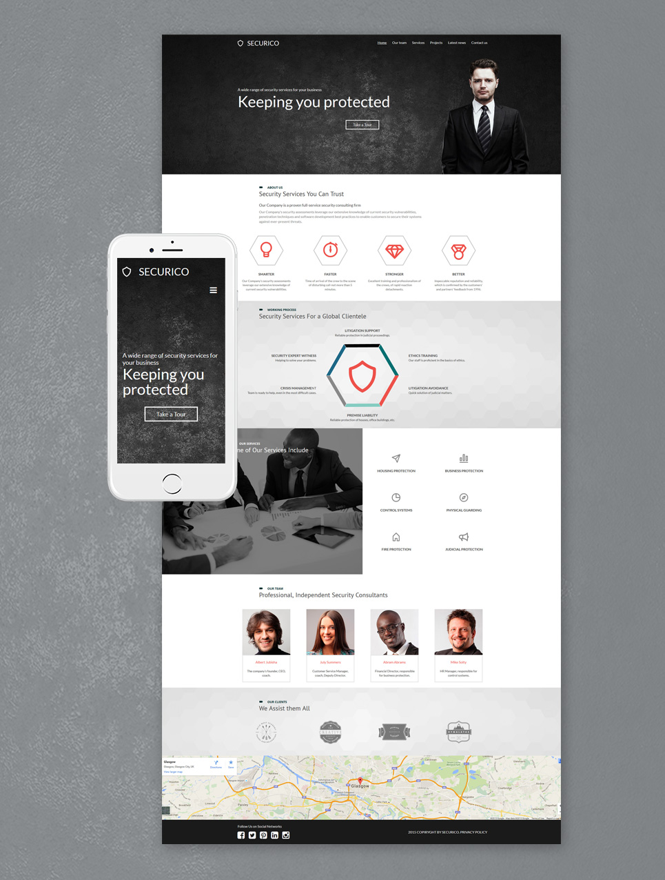 Protection agency site template