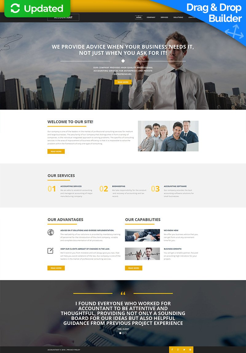 Accounting Company Website Builder | Responsive Moto CMS 3 ...
