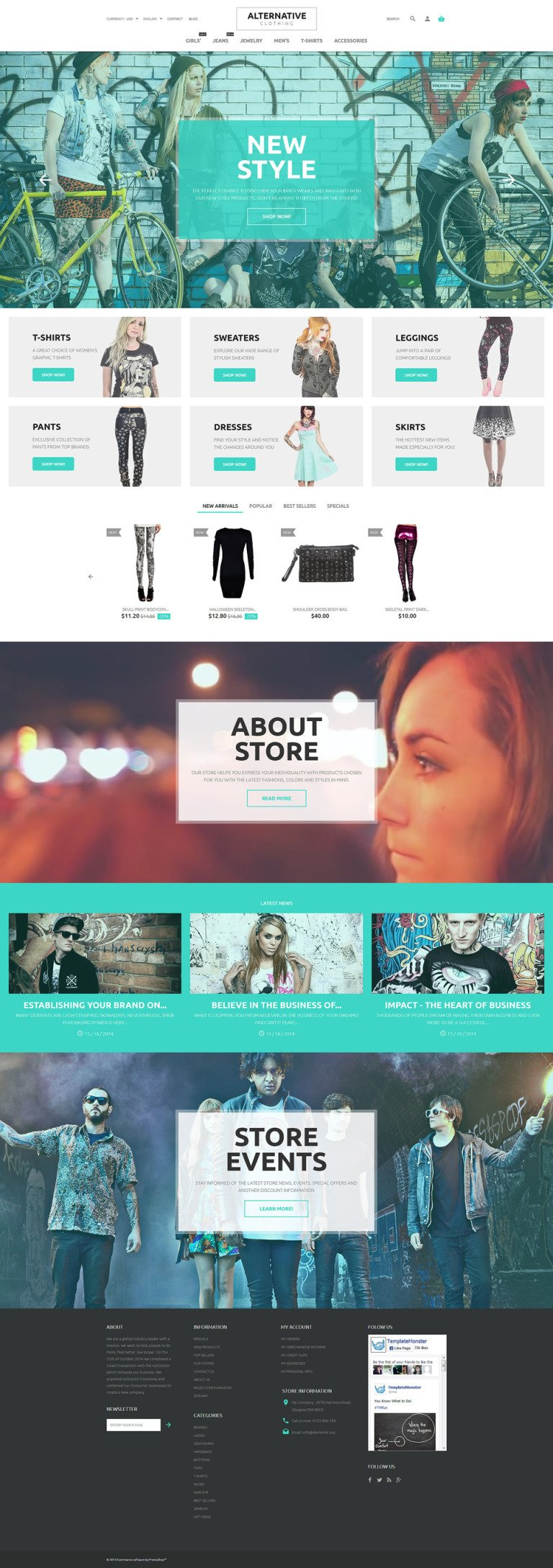Alternative Style PrestaShop Theme New Screenshots BIG