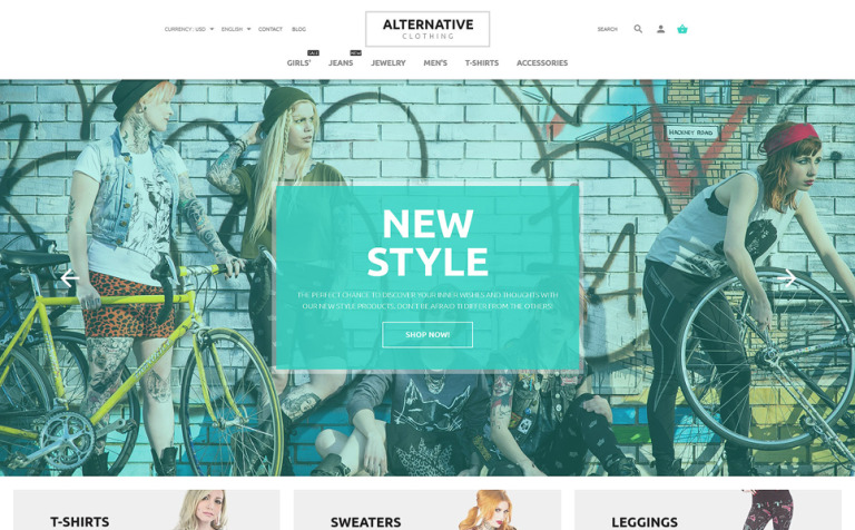 Alternative Style PrestaShop Theme