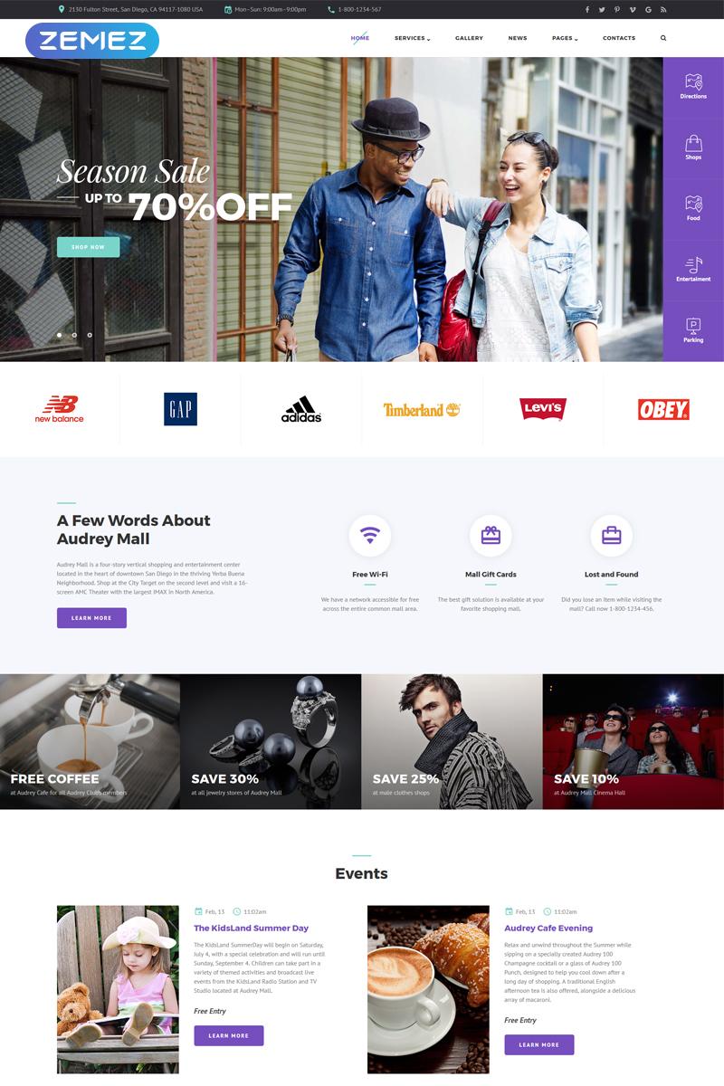 Blog Theme Joomla-mall #55955 - skärmbild