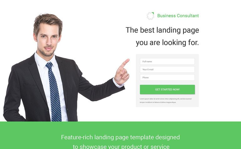 Business consultant psd template flashek Gallery