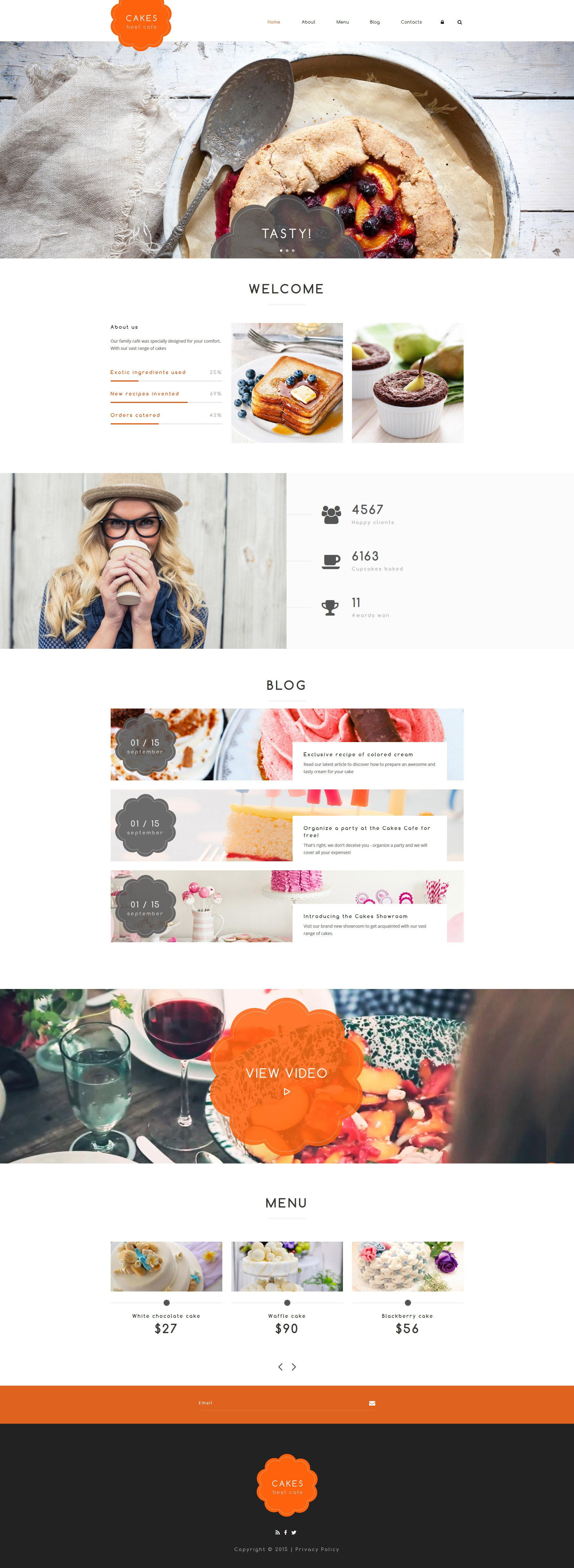 """Cakes"" Drupal Template №55975"