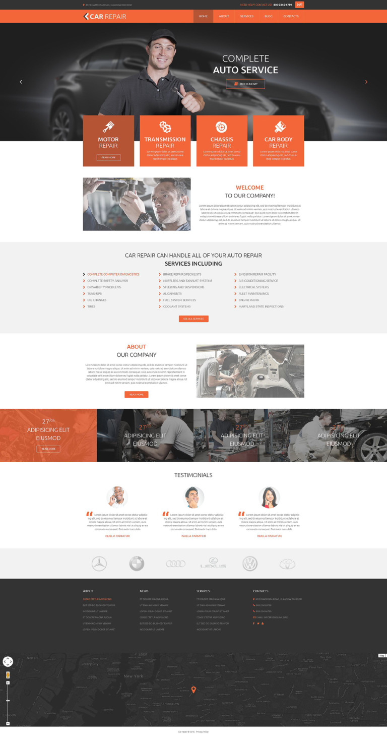 Car Repair PSD Template New Screenshots BIG