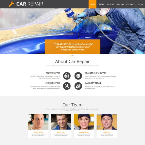 Car Repair - Automobile Repair Template based on Bootstrap