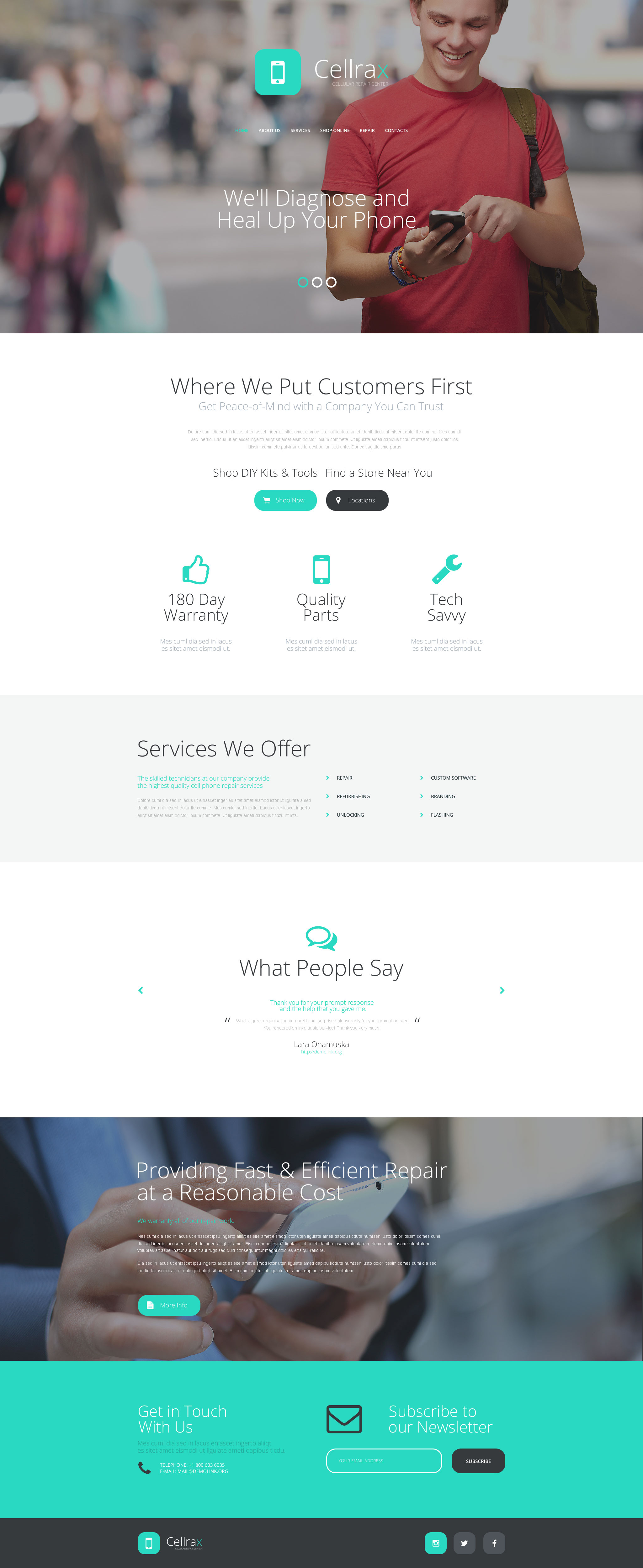 Cellrax Website Template
