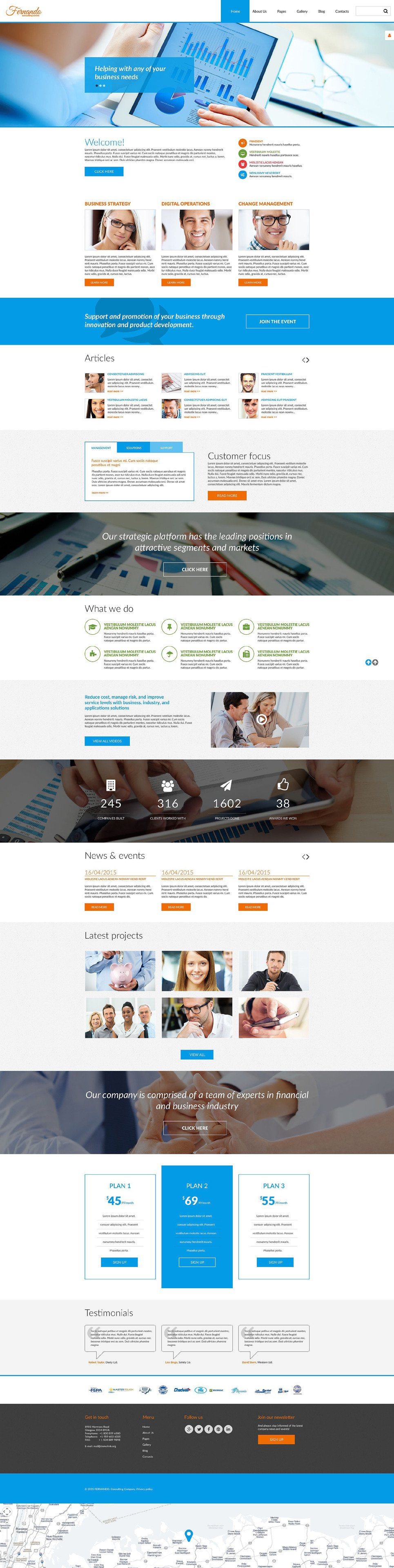 Corporate Consulting PSD Template New Screenshots BIG