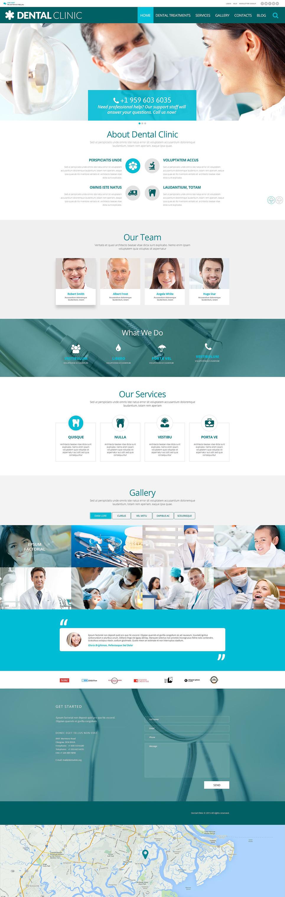 Dental PSD Template New Screenshots BIG
