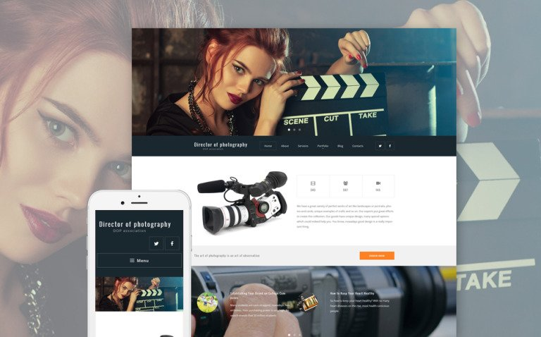 Director of Photography WordPress Theme New Screenshots BIG