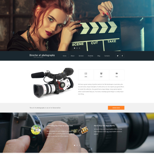 Director of Photography - WordPress Template based on Bootstrap