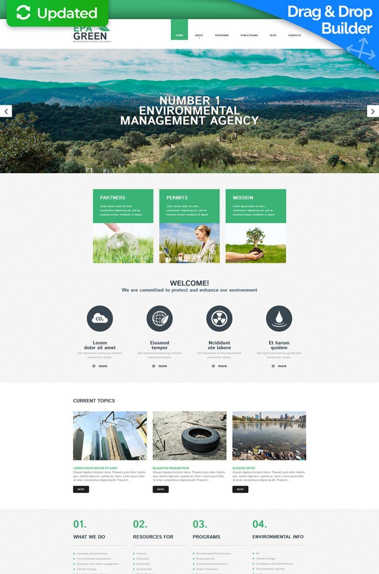 Environmental Responsive Moto CMS 3 Template New Screenshots BIG