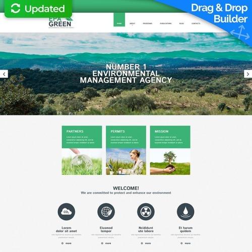 Epa Green - MotoCMS 3 Template based on Bootstrap