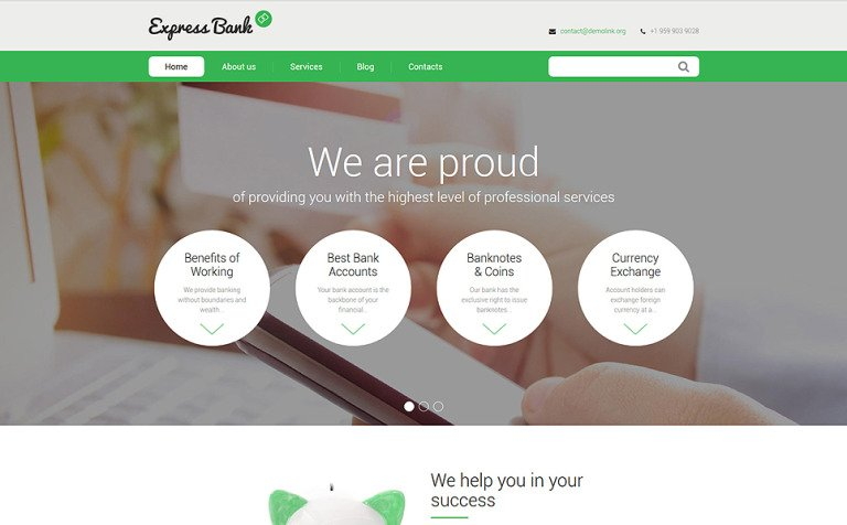 Express Bank Drupal Template