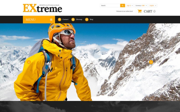 Extreme Sports Clothing PrestaShop Theme