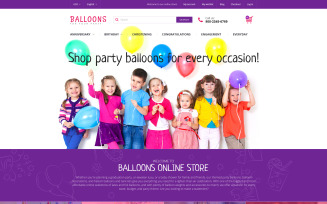 Festive Balloons Magento Theme