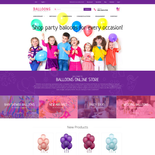 Balloons - Magento Template based on Bootstrap