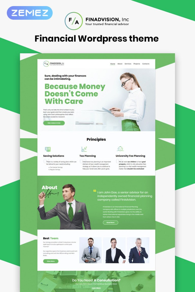 Financial Advisor Responsive WordPress Theme New Screenshots BIG
