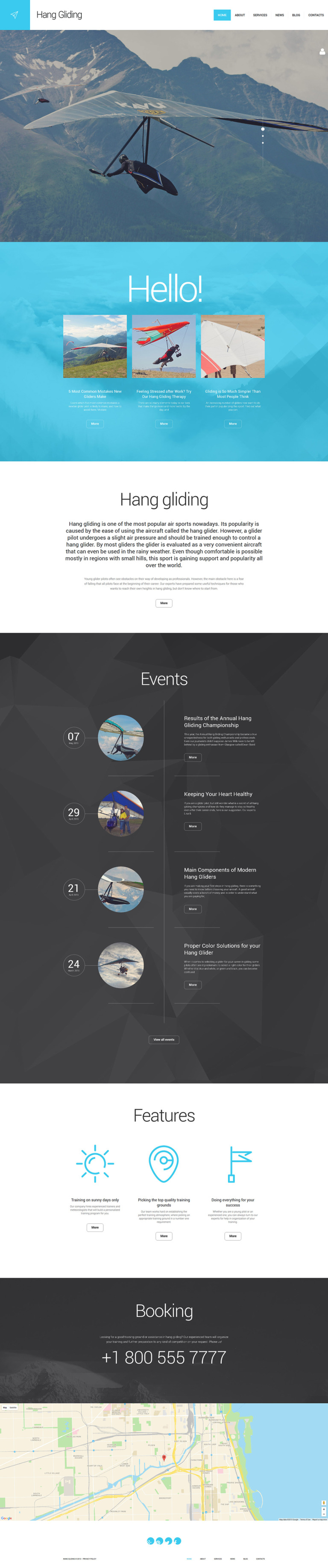 Hang Gliding WordPress Theme New Screenshots BIG