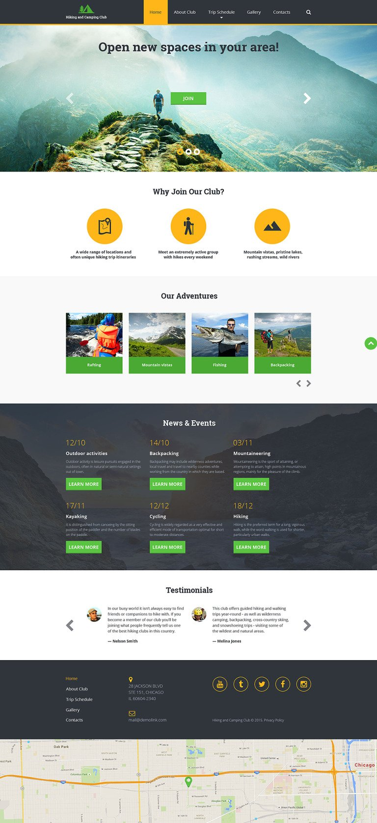 Hiking Responsive Website Template New Screenshots BIG