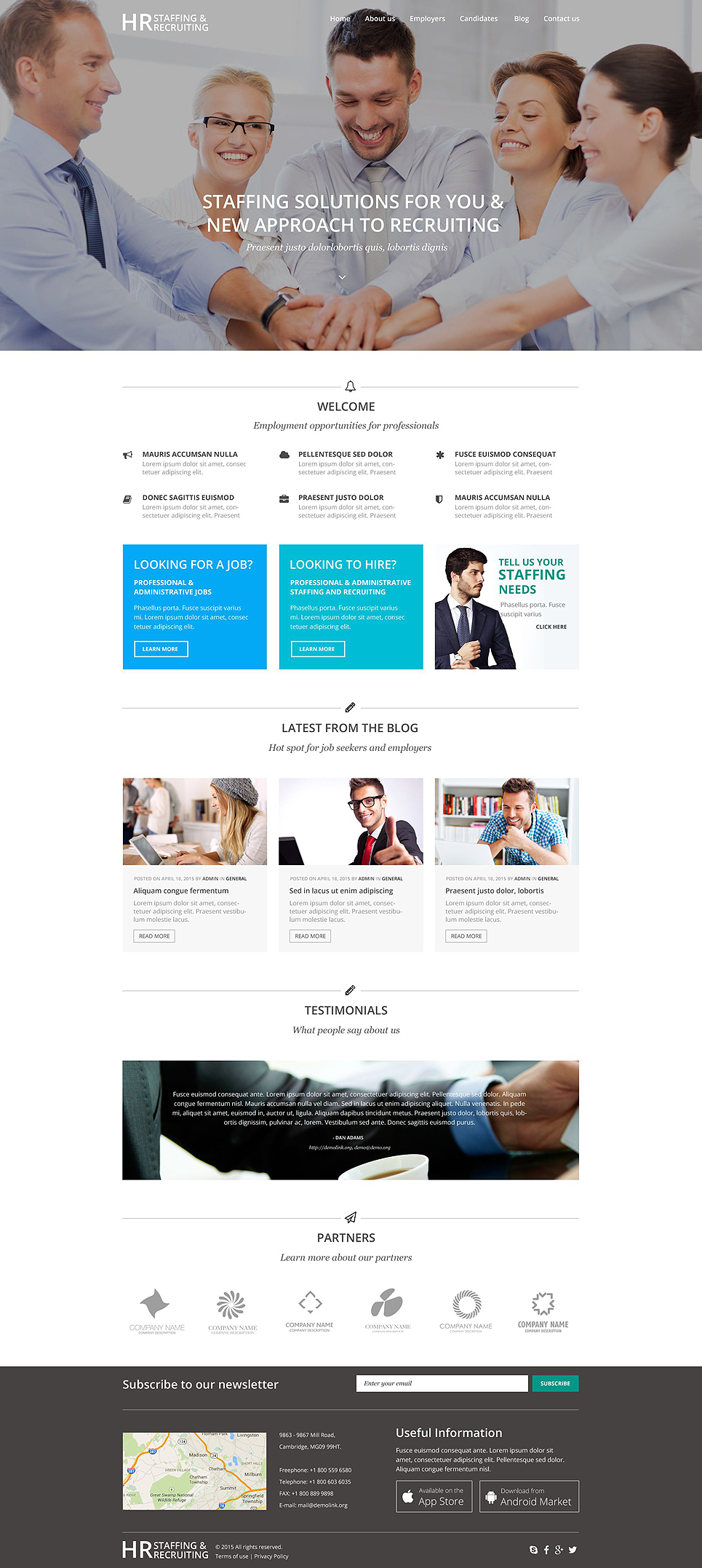 public relations psd template