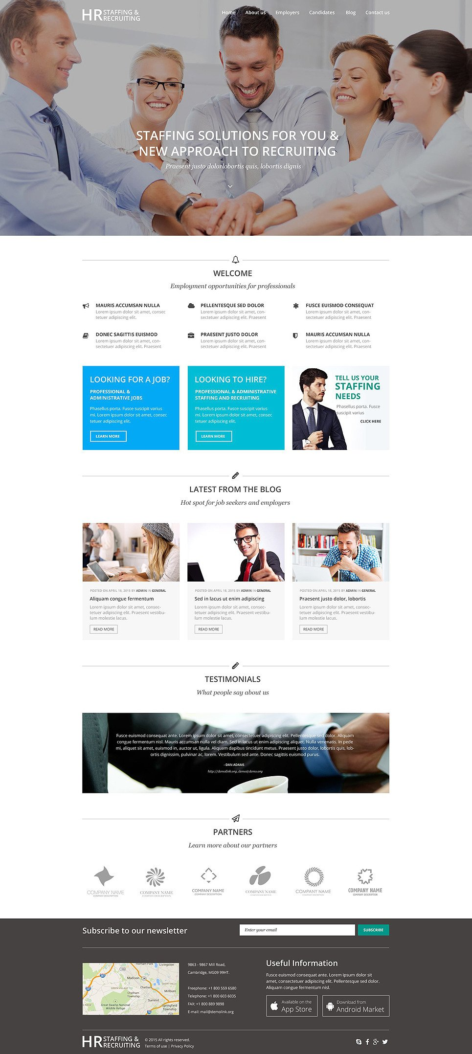 HR Recruiting PSD Template New Screenshots BIG