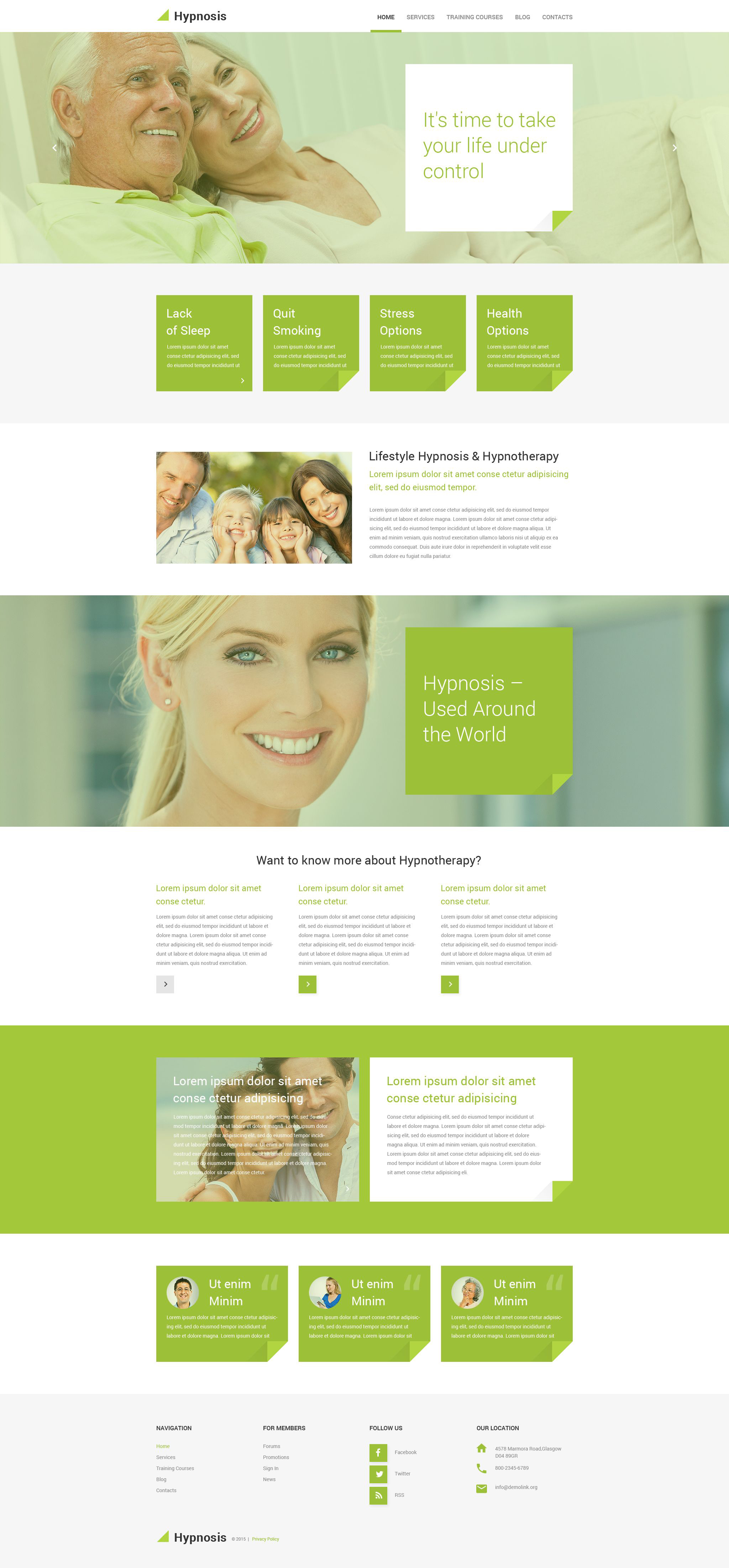 Hypnosis PSD Template - screenshot