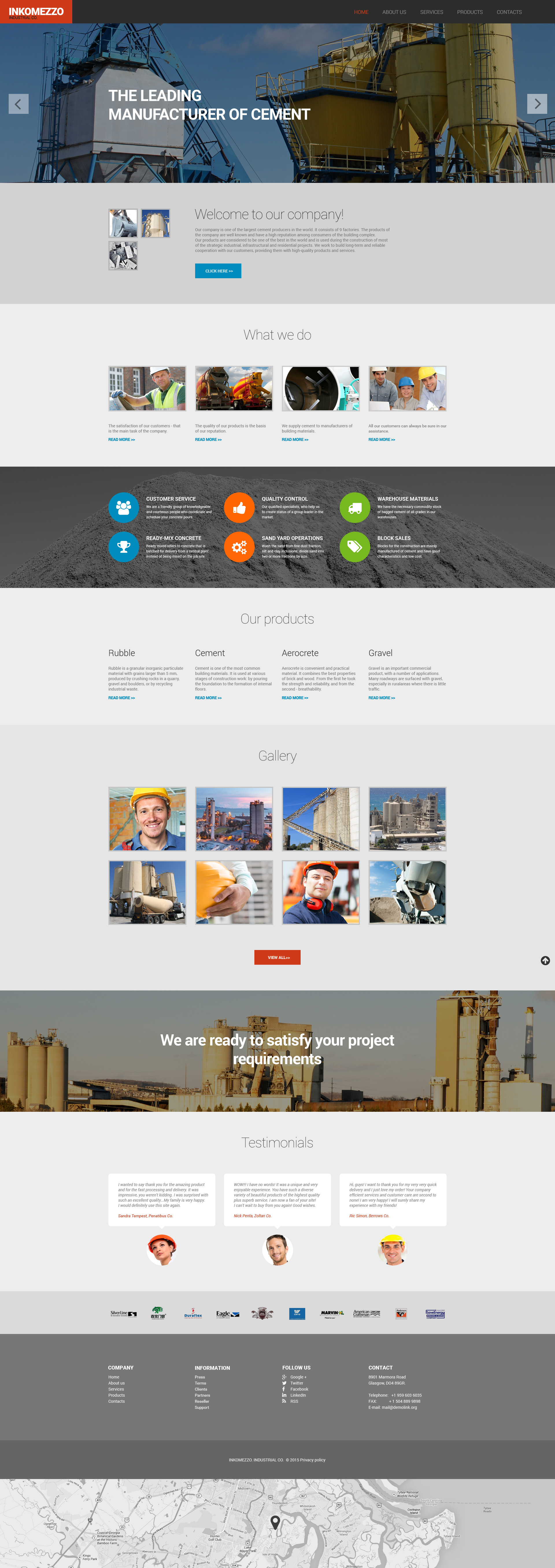 Industrial Responsive Website Template - screenshot