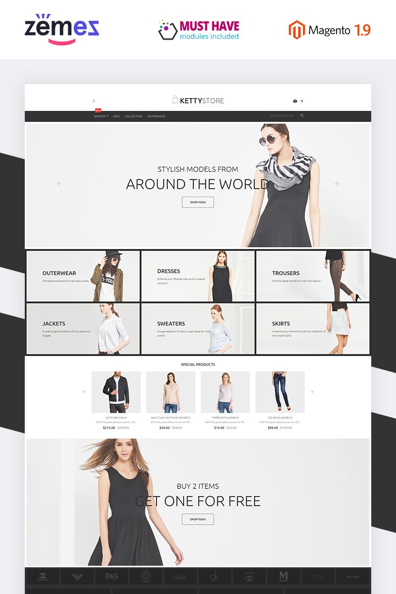 KettyStore Magento Theme - screenshot