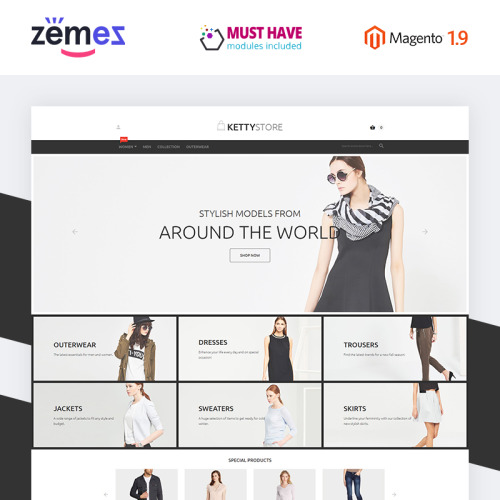 KettyStore - Magento Template based on Bootstrap