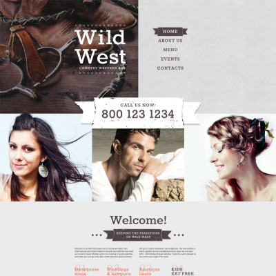 Cafe and Restaurant Responsive Template Siti Web