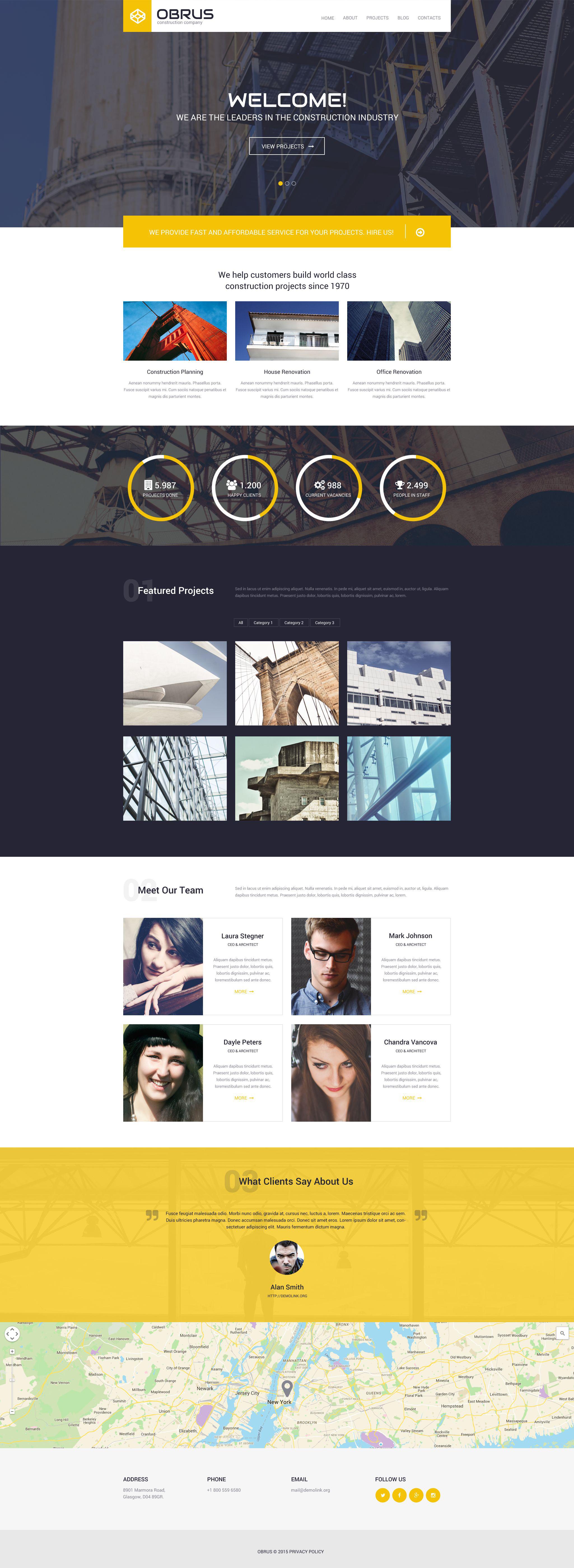 Obrus PSD Template - screenshot