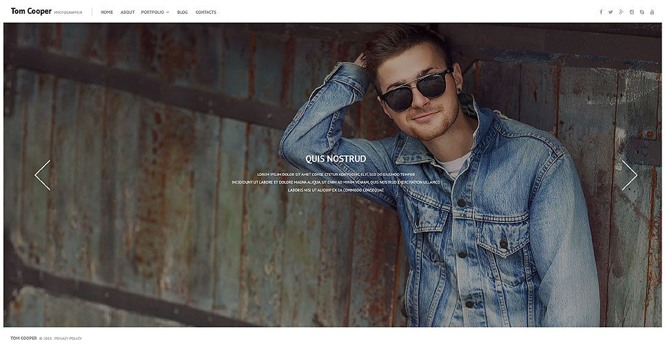 Online Portfolio PSD Template New Screenshots BIG