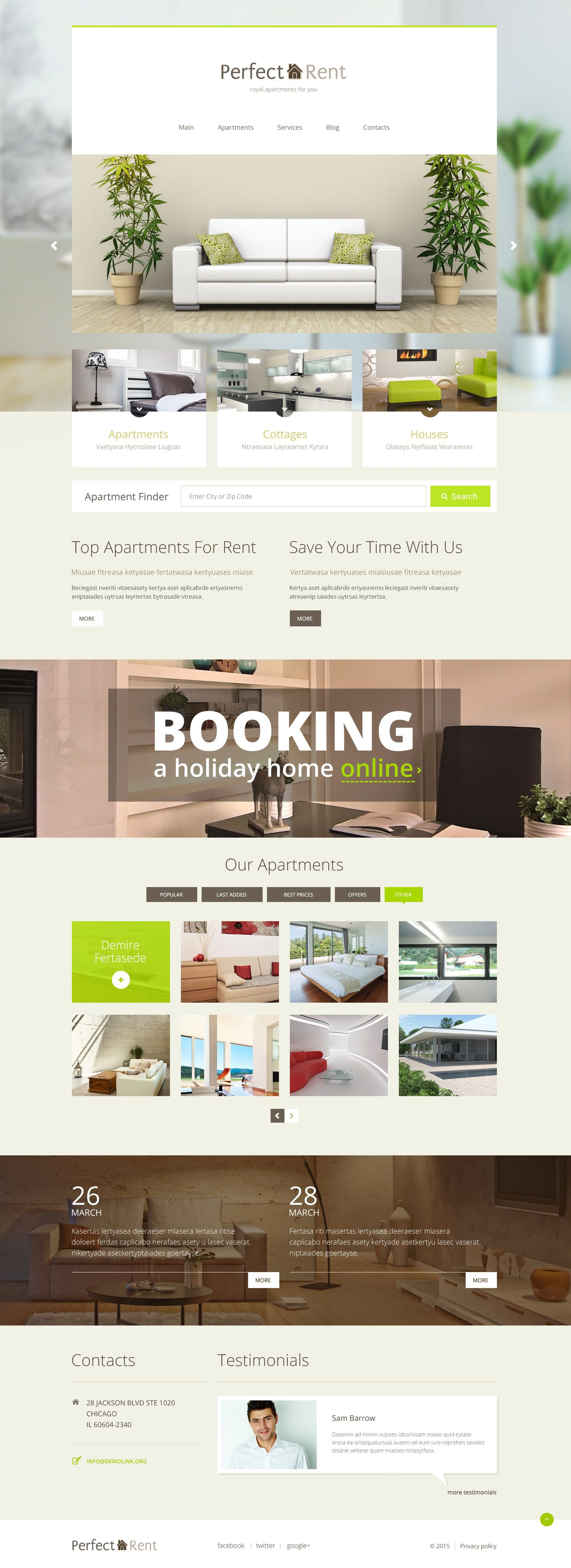 Perfect Rent PSD Template