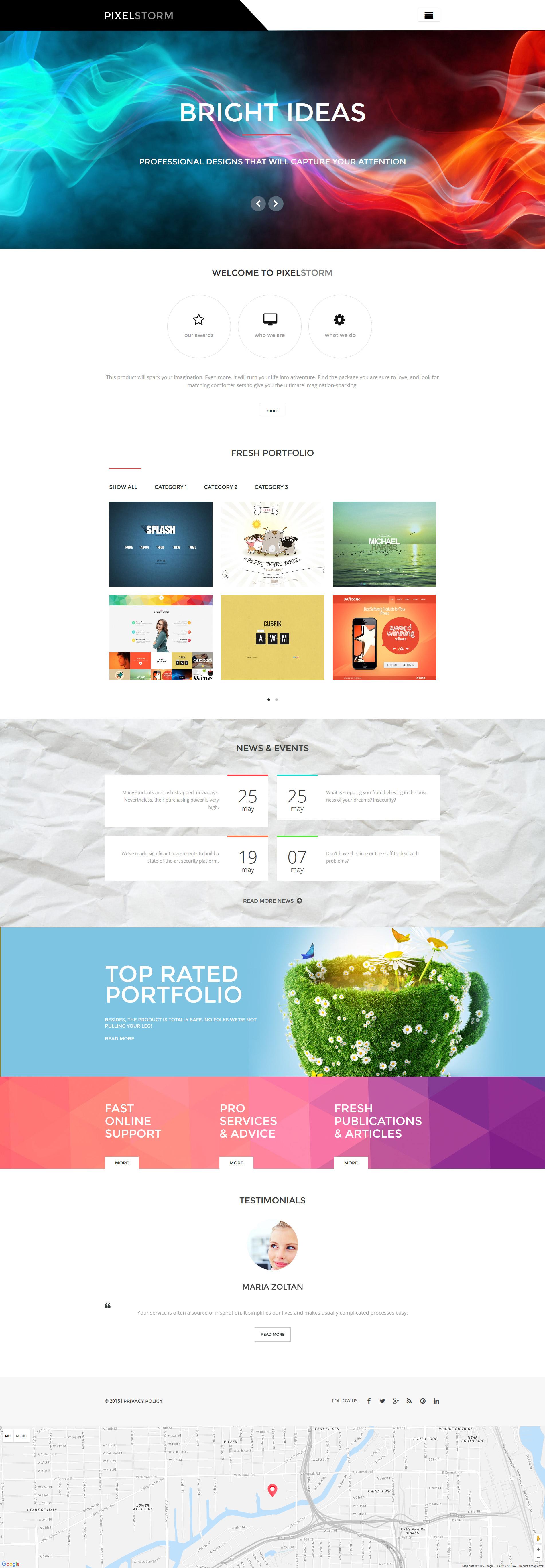 Pixel Storm WordPress Theme - screenshot