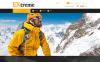 PrestaShop шаблон №55981 на тему экстремальные виды спорта New Screenshots BIG