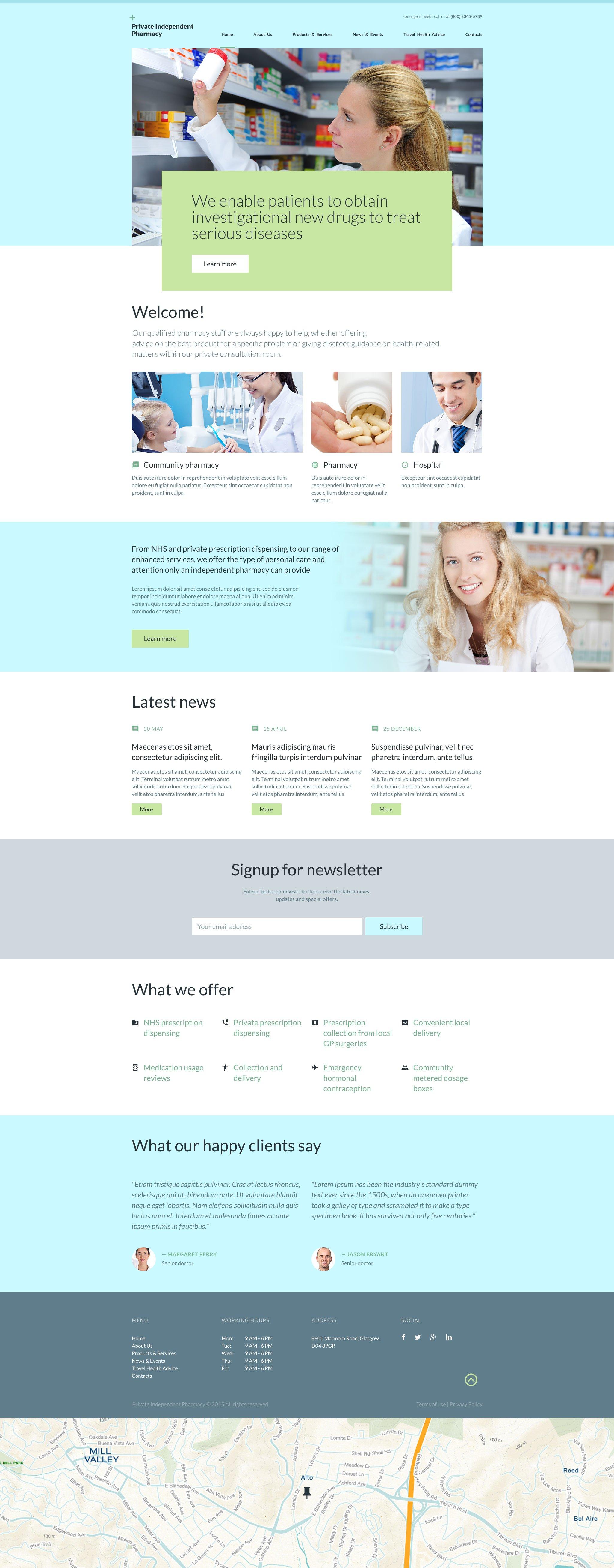 """Private Independent Pharmacy"" modèle web adaptatif #55968"