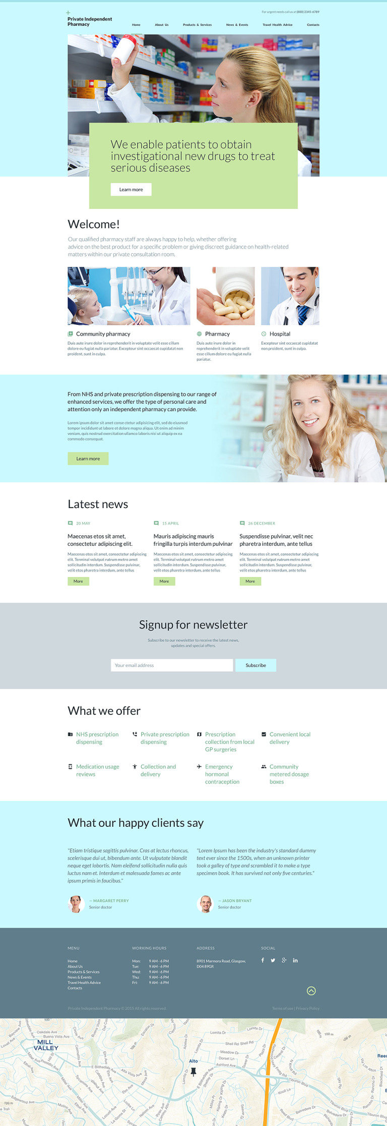 Private Independent Pharmacy Website Template New Screenshots BIG