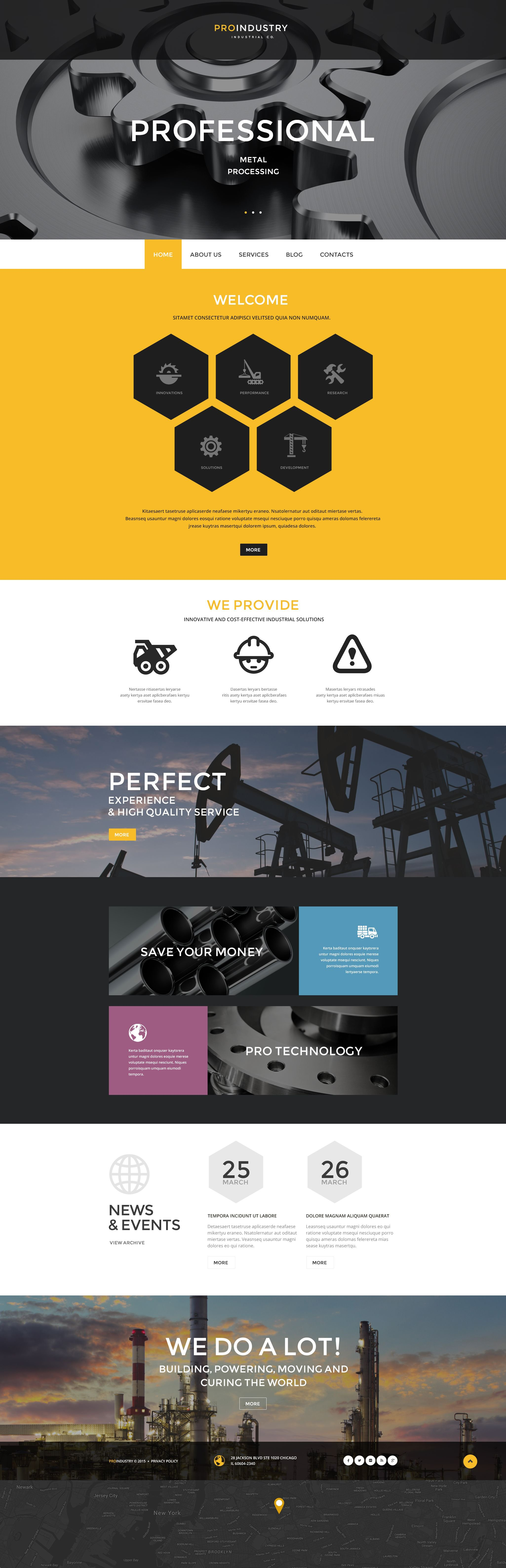 PRO Industry PSD Template - screenshot