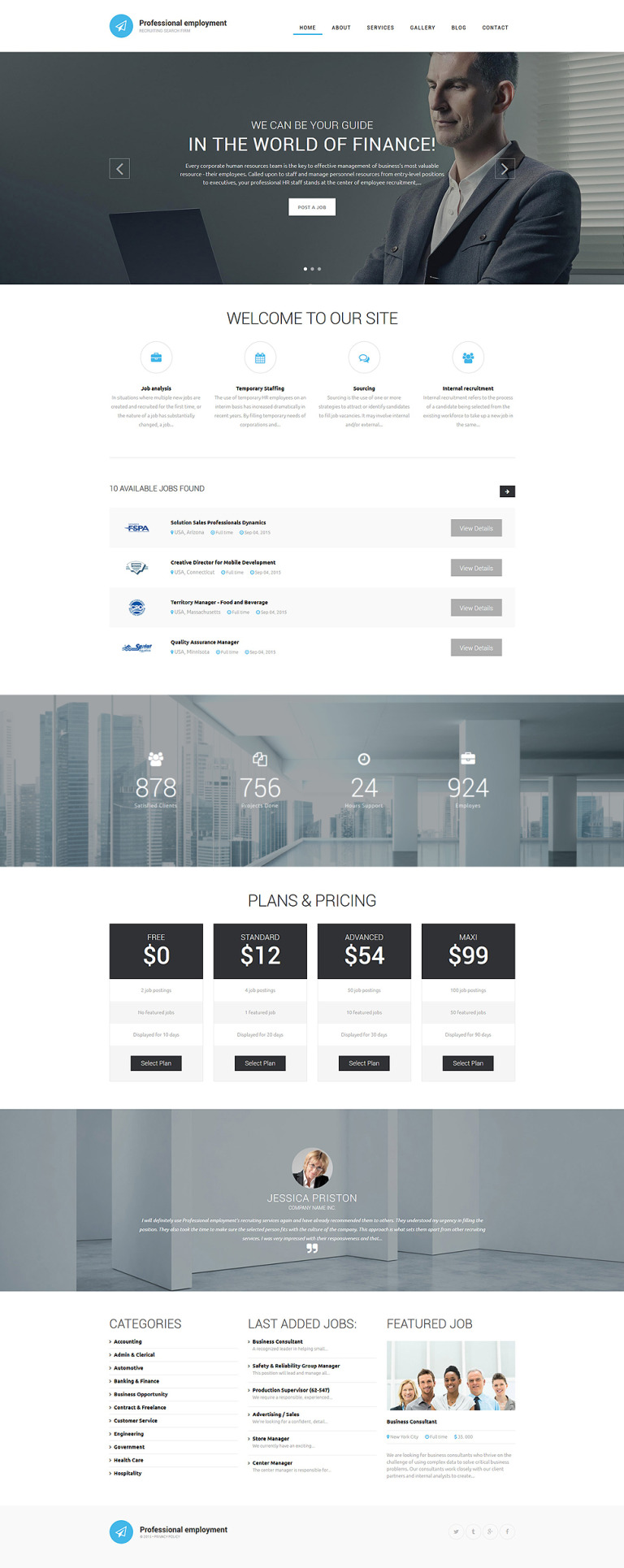 Professional Employment Drupal Template New Screenshots BIG