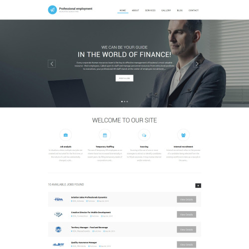 Professional Employment - HTML5 Drupal Template