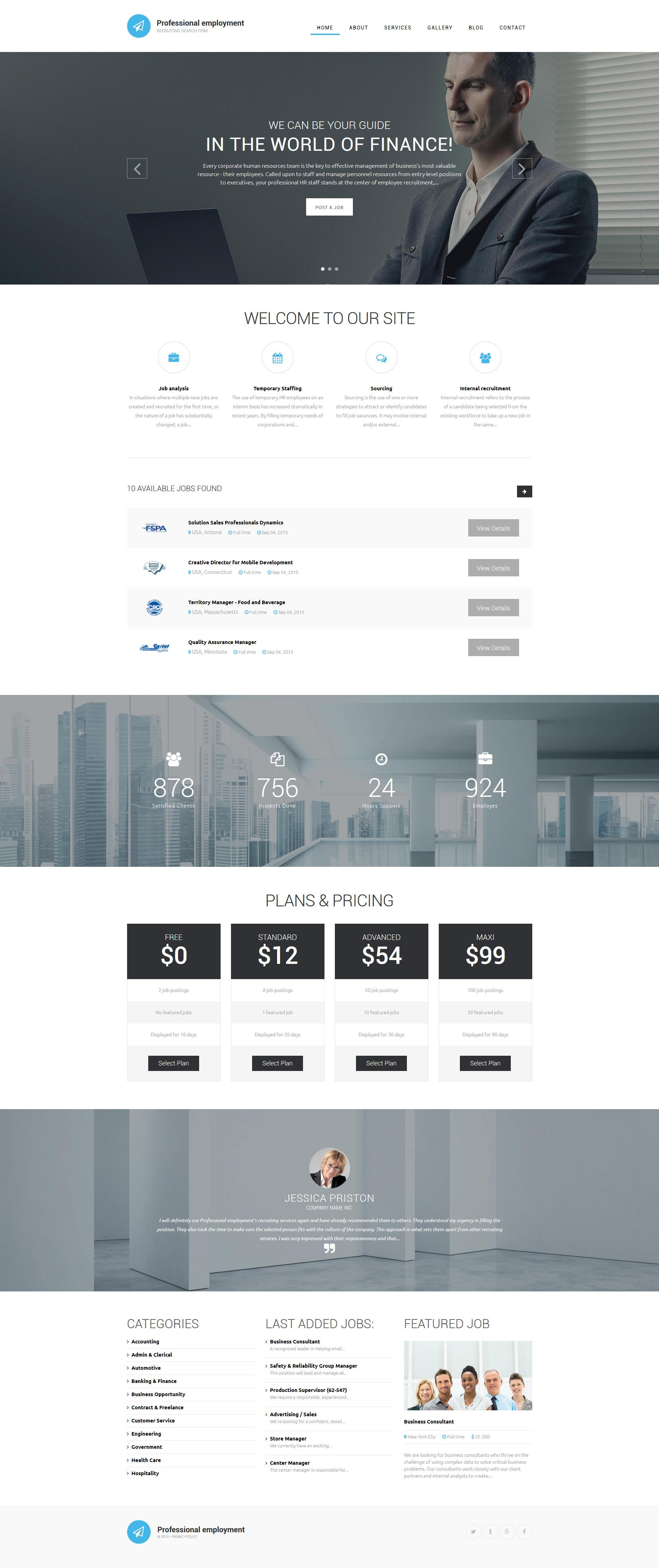 Professional Employment Template Drupal №55959 - screenshot
