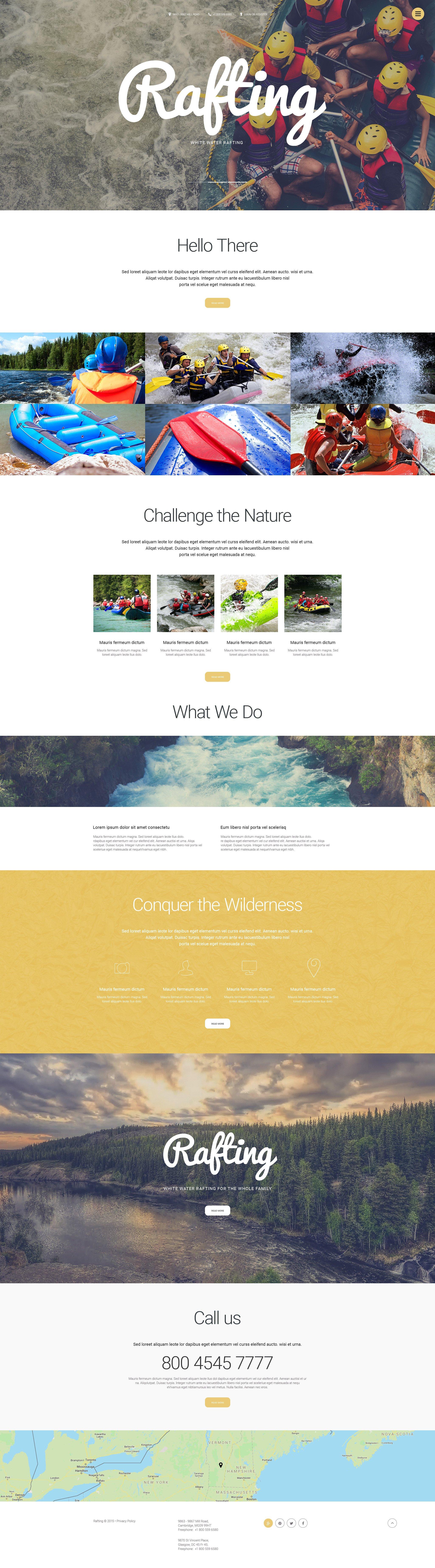 Rafting Trips Website Template