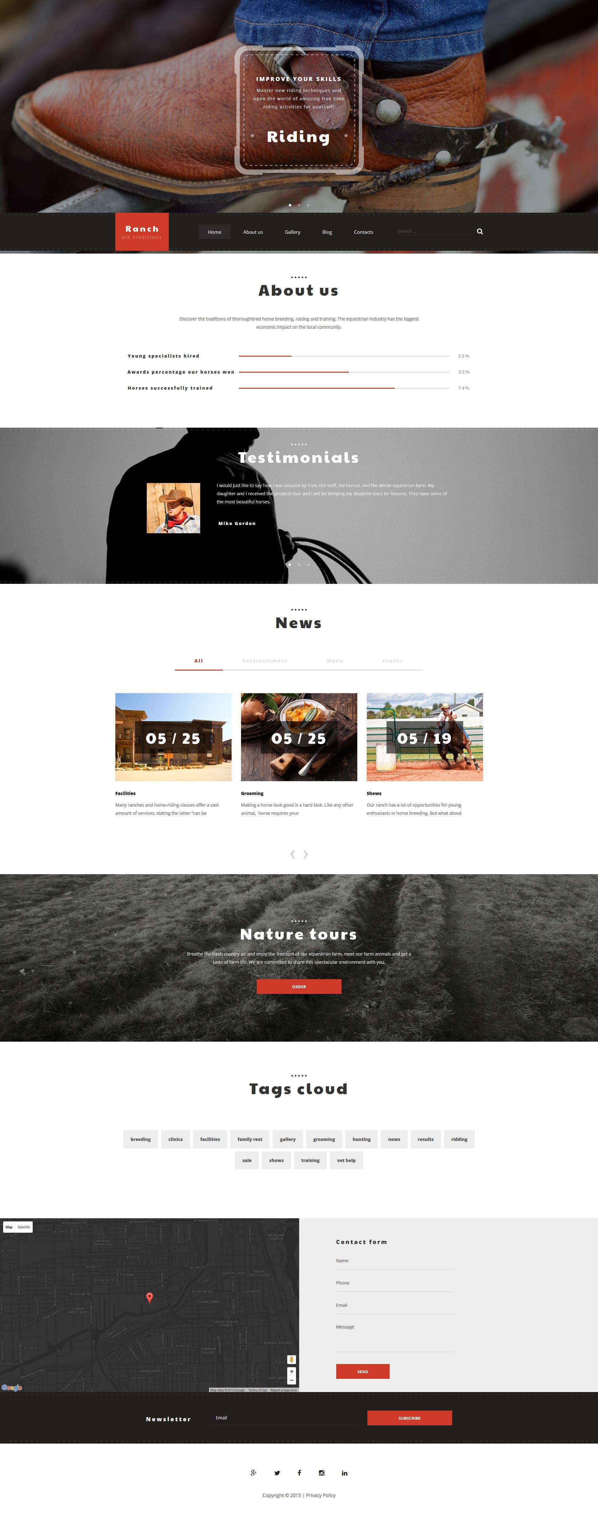 """""""Rancho"""" - адаптивний WordPress шаблон №55947"""