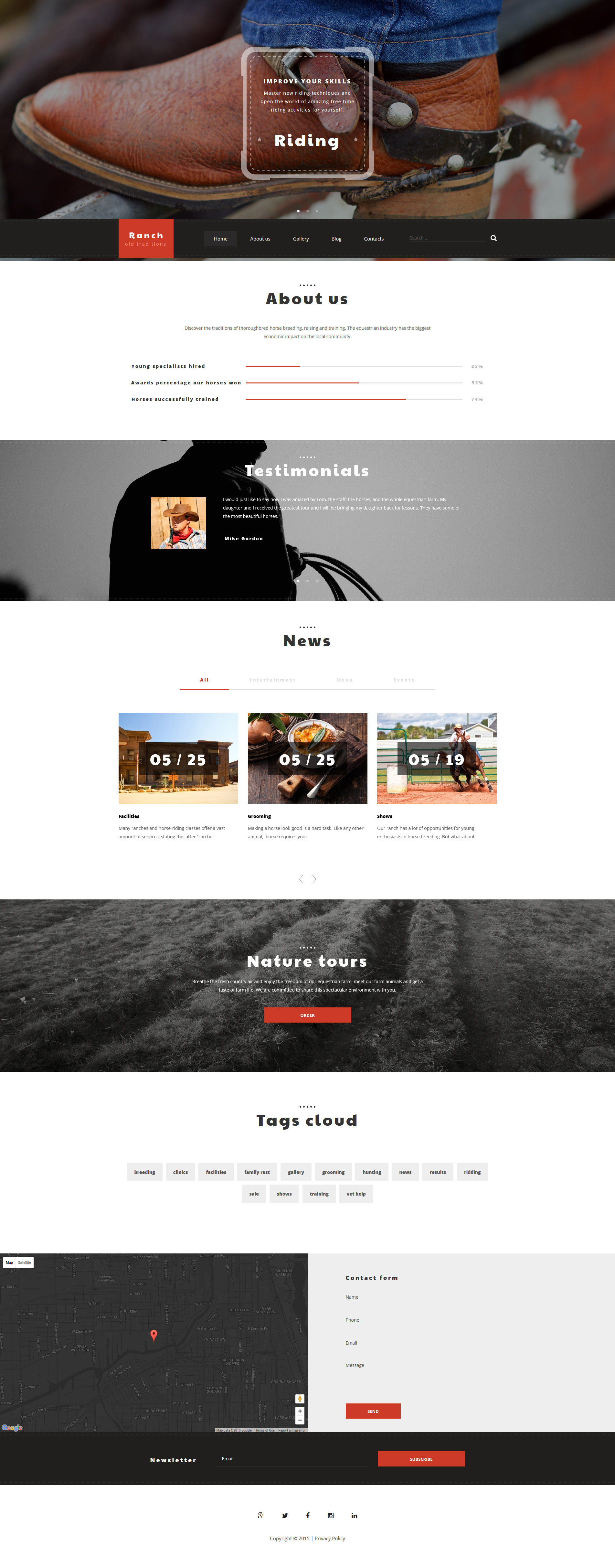 """Rancho"" Responsive WordPress thema №55947"