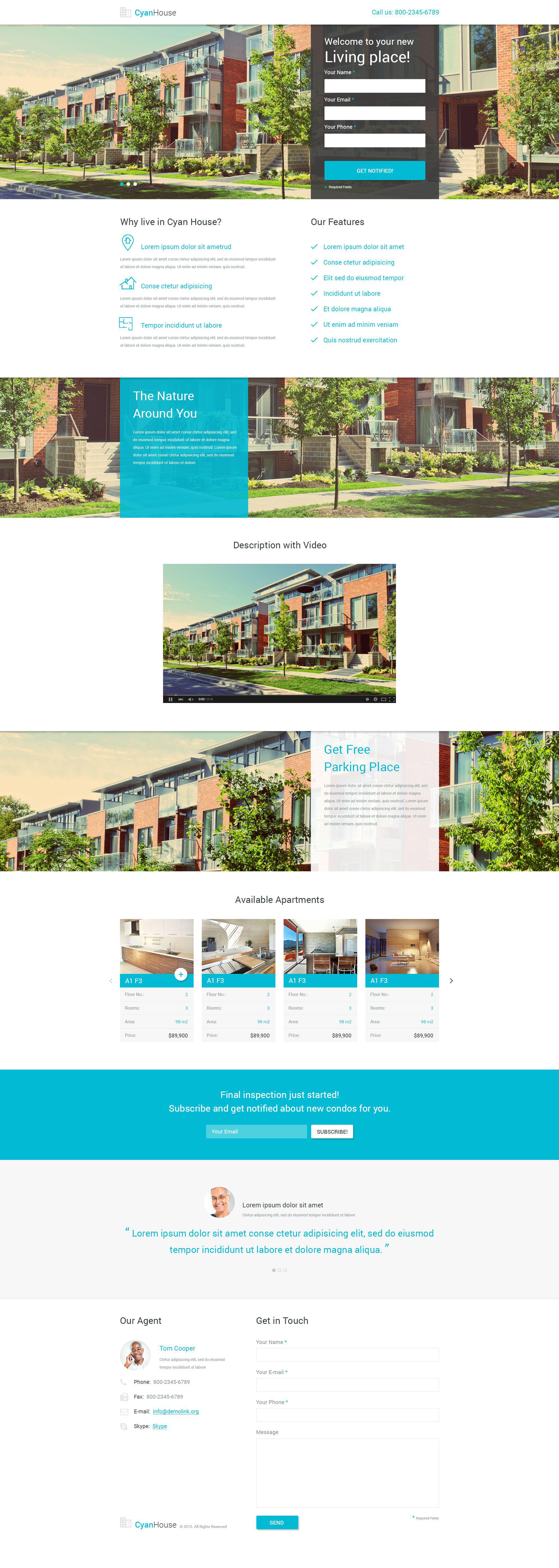 Real Estate PSD Template - screenshot